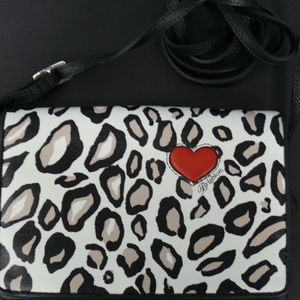 Brighton NWOT Leopard Crossbody Purse Red Heart